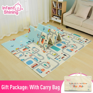 Image 1 - Infant Shining Reversible Baby Play Mat Cartoon Soft Mat Big Size 180*200*1CM Thickened Kids Rug Game Pad Playmat for Children