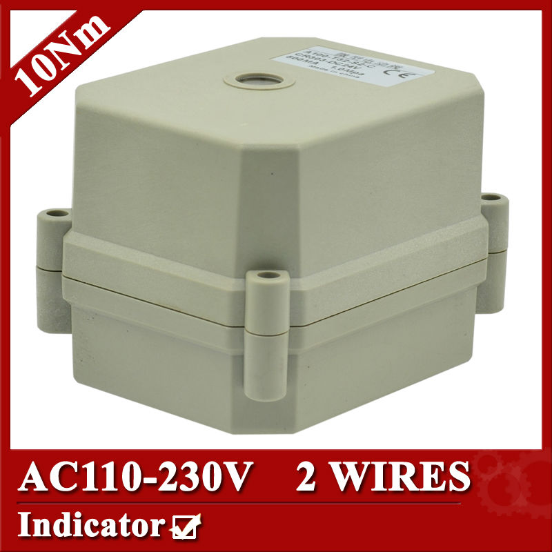 ФОТО AC110-230V automated valve actuator, 2 wires(CR202) , 10Nm,  power off return