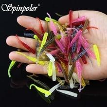 Spinpoler 100pieces Soft Lure 4cm 0.3g Soft Bait Silicone Bait Plastic Fishing Lure Iscas Artificiais Para Pesca Leurre Souple