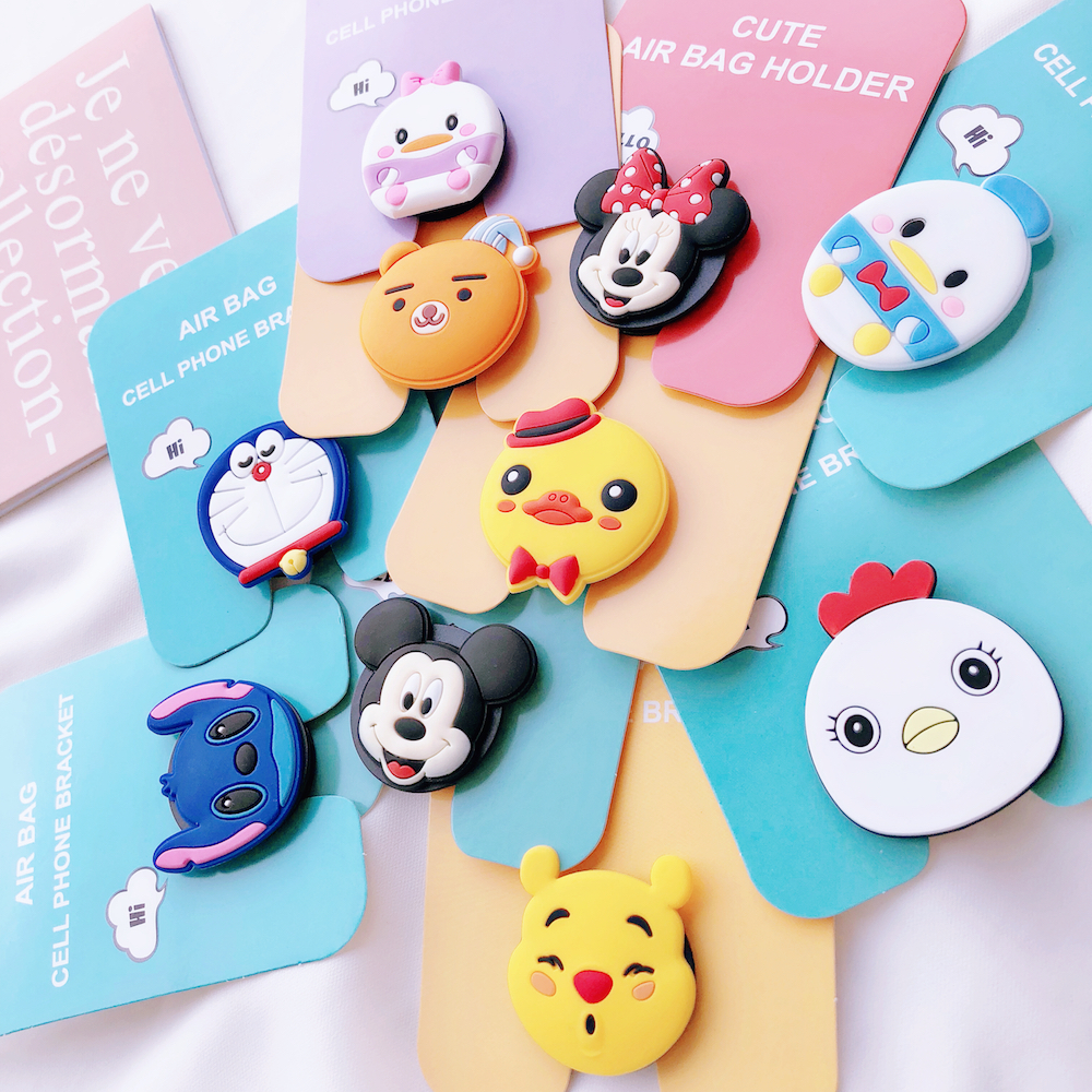 Energetic New 1pc Universal Mobile Phone Bracket Cute Unicorn Air Bag Phone Expanding Stand Finger Holder Mickey Rabbit Phone Holder Stand Cellphones & Telecommunications Mobile Phone Holders & Stands