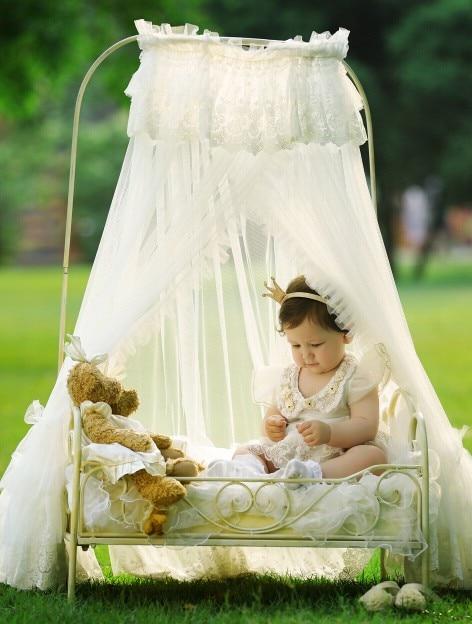 Реквизит для фотосъемки новорожденных 100 дней детские принадлежности студия интерьер и снаружи маленький железный bebe кровать, детская кров