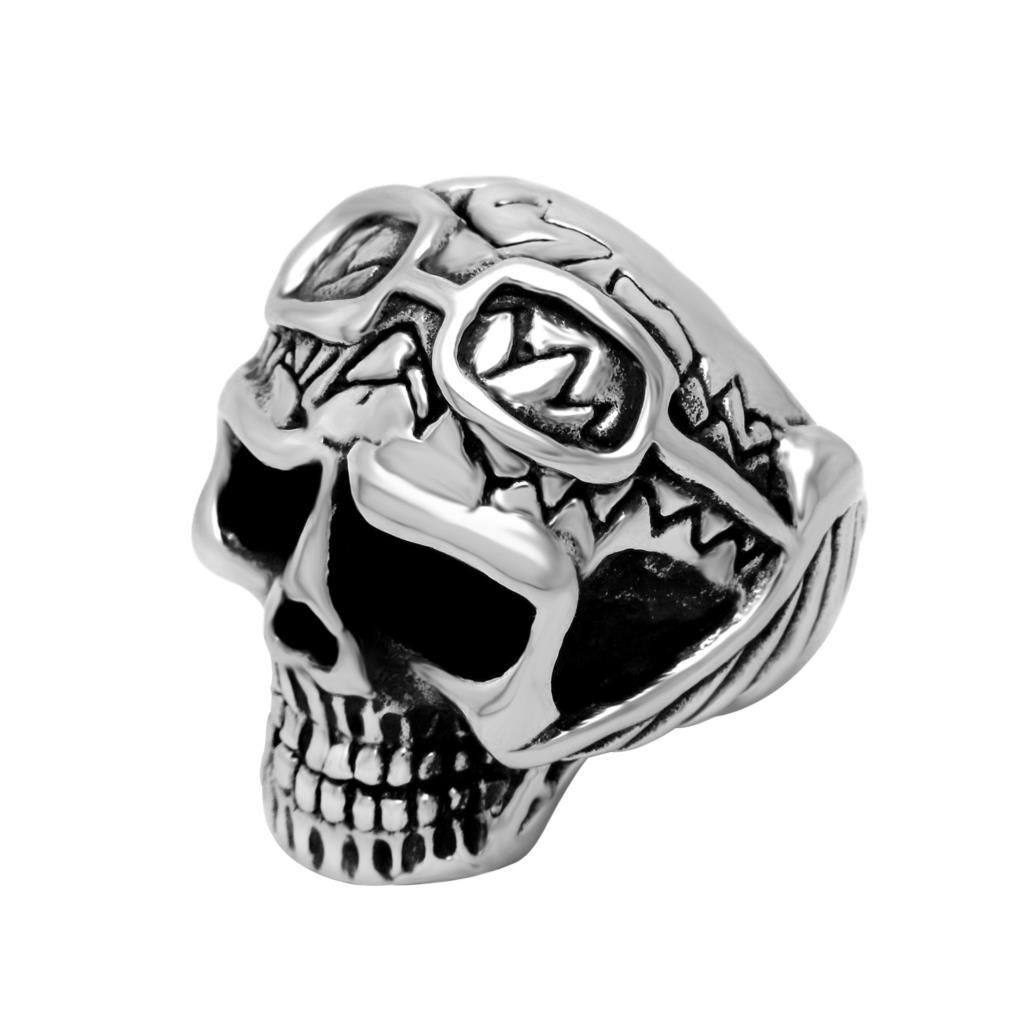 Punk Retro Funny New Jewelry Casting Titanium Steel Skull Ring Sa188
