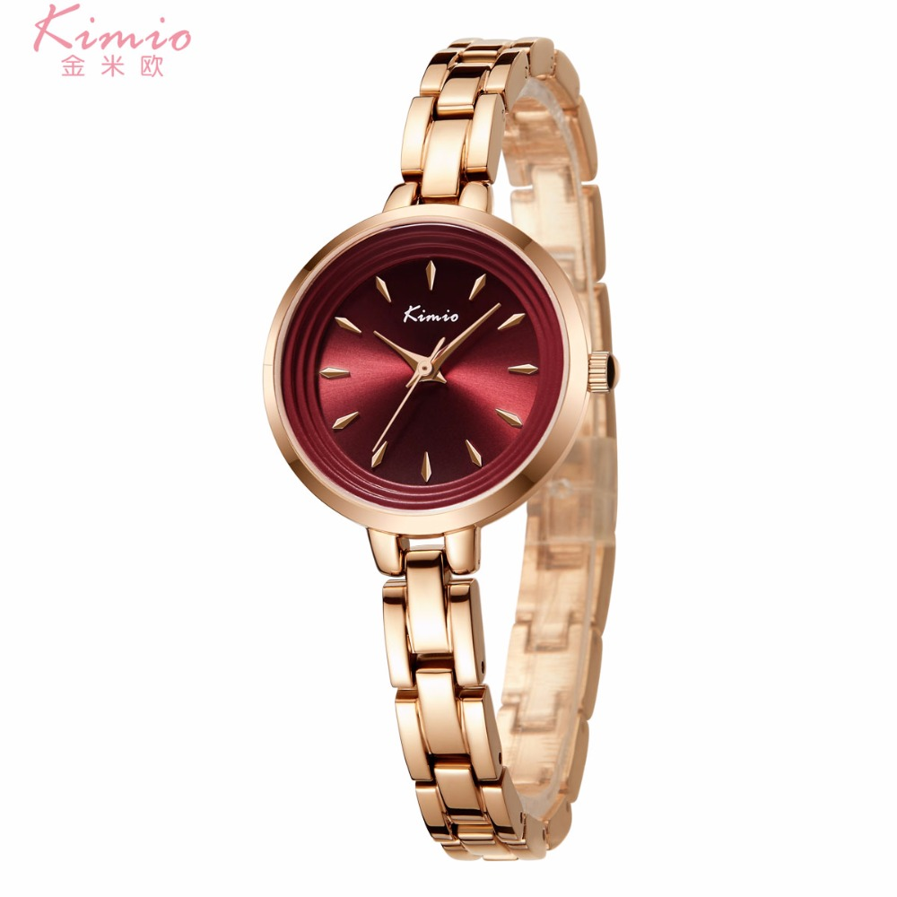 Kimio Rose Gold Watch Women 30m Waterproof Quartz Watches Ladies Top Brand Luxury Female Wrist Watch Girl Clock Relogio with Box