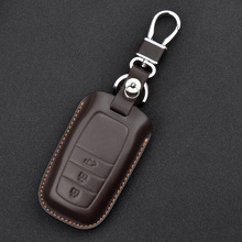 SILLY CAT Genuine Leather Car Key Cover Case For TOYOTA HIGHLANDER  CAMRY RAV4 COROLLA PRADO CROWN fob case Bag