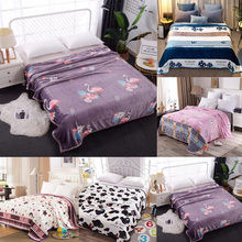 Sale 1pc 150x200cm Thick Warm Flannel Boy Girl Bedding Set Thick Warm Cartoon Coral Velvet Flannel