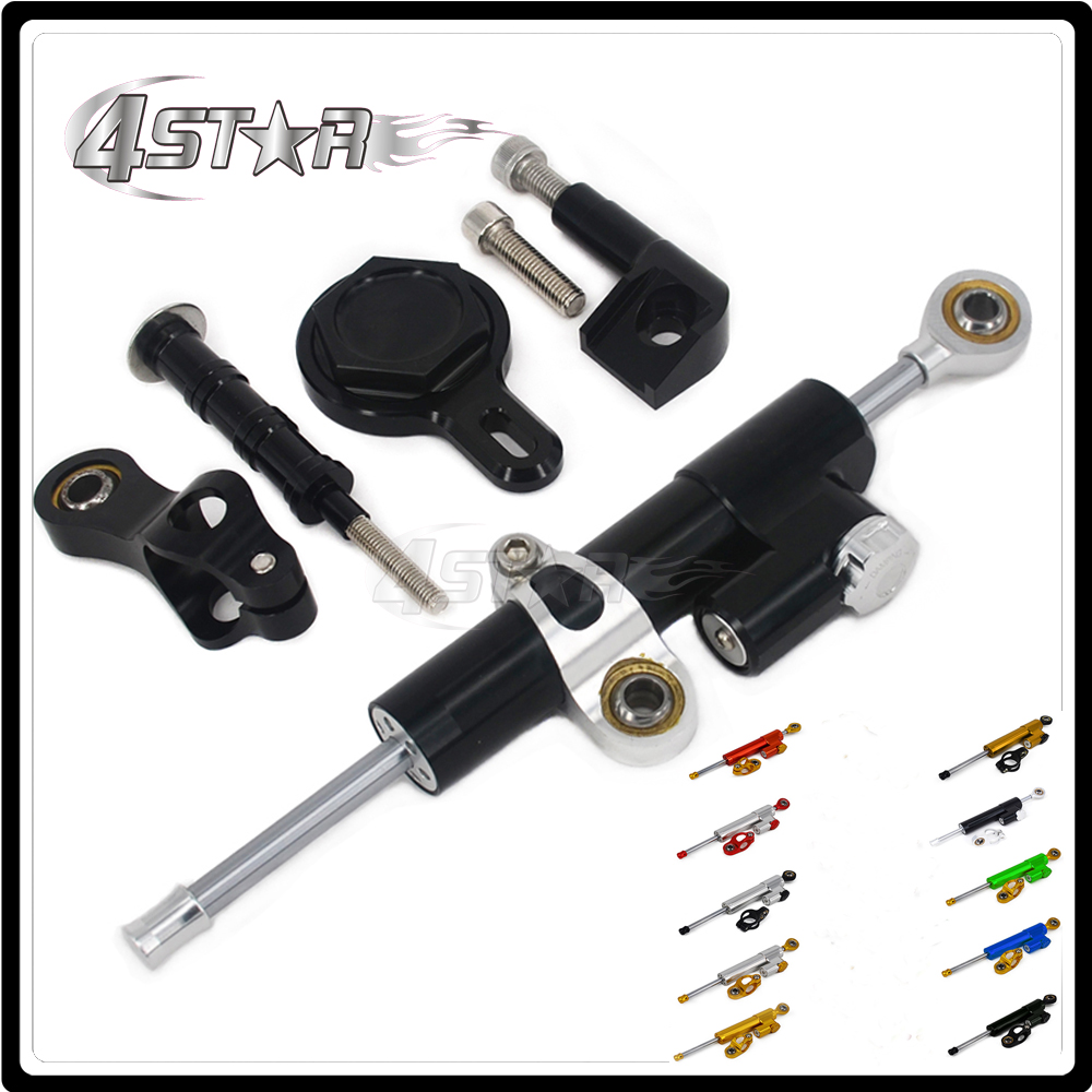 Motorcycle Steering Damper Stabilizer & Bracket For YAMAHA YZFR1 YZF R1 YZF-R1 1999 2000 2001 2002 2003 2004 2005 99-05 hot sales for yamaha r1 fairings yzfr1 2007 2008 yzf r1 yzf r1 yzf1000 r1 07 08 red black abs fairings injection molding