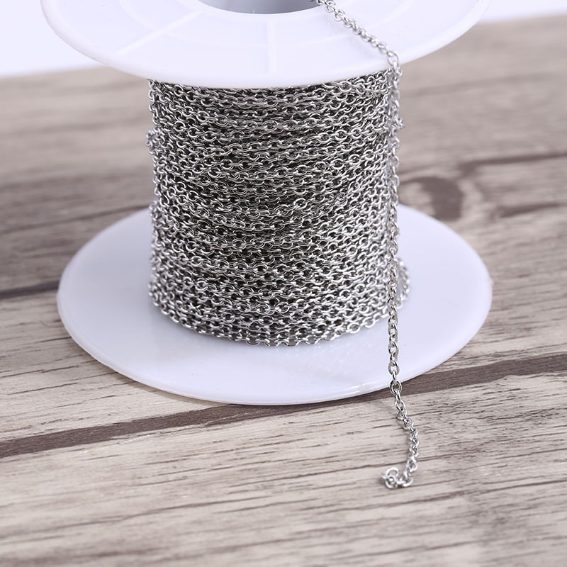 Onwear 10meters/roll Stainless Steel Link Chain For Jewelry Necklace Making Ring Size About 2x1.5mm