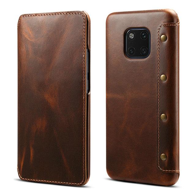 Gerçek deri Huawei Mate 20 Pro Mate20 Funda Huawei Mate 20 Pro kılıf kapak cüzdan Retro Etui Huawei mate 20 Case LYA L29