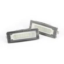 2 pezzi LED Numero di Targa Della Lampada Della Luce Senza Errori Per Benz Smart Fortwo Cabrio Coupe 450 451 W450 W453 auto Luce