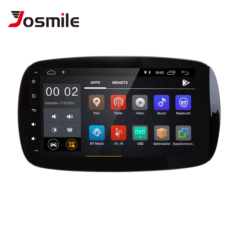 Autoradio 1 din Android 8.1 voiture multimédia pour Mercedes/Benz Smart Fortwo W453 W257 2015 2016 2017 Navigation GPS Audio