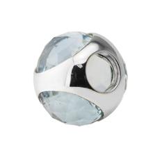 5d252d71c Pandulaso Spring Round Aqua Blue Radiant Droplet Bead Fit European Charm  Bracelet 925 Sterling Silver Bead