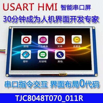 7 pouces USART HMI configuration écran avec GPU font écran série TFT LCD module 800*480