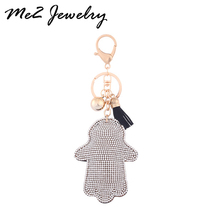 1PC Women Keychain Car key Ring Bag Pendant Hot Sale Hand Rhinestone Key Chains Free Shipping