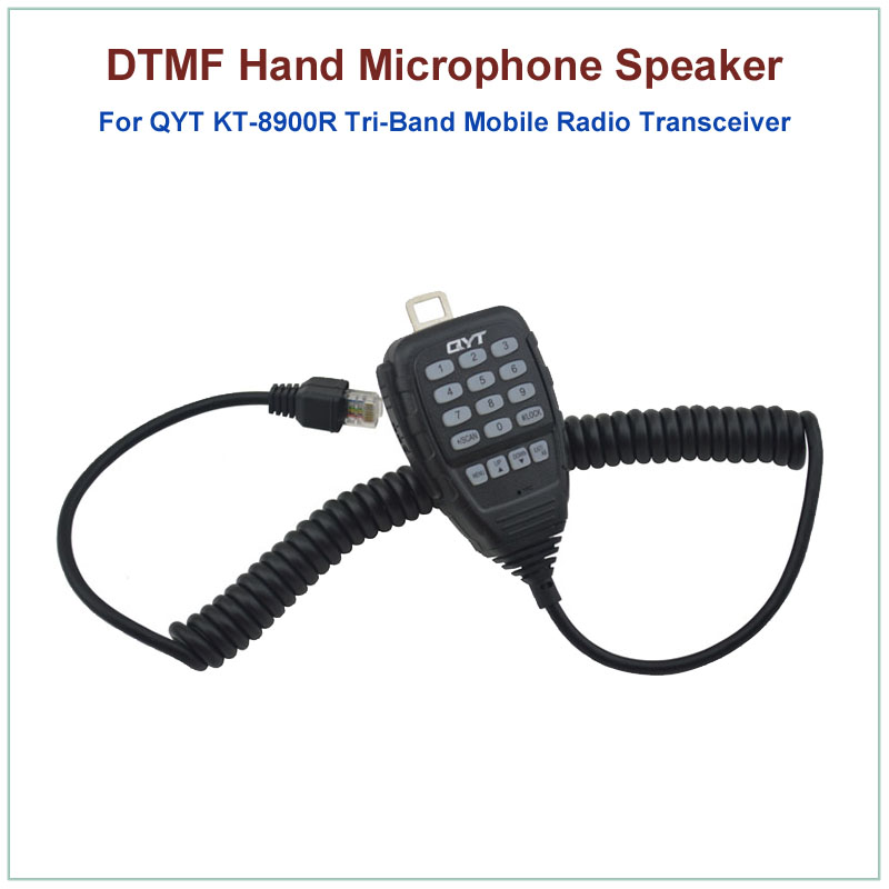Original QYT 8 Pin DTMF Hand Speaker Microphone For QYT KT-8900R KT8900R Tri-band Mini Mobile Radio Transceiver