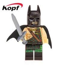 Única Venda Super Heróis Tartan Do Filme Batman Charada Catman Modelo Educação Tijolos Blocos de Construção de Brinquedos de Presente Crianças XH 513