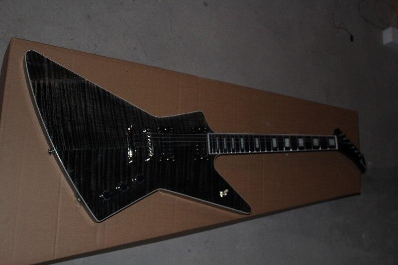 New Arrival Guitar High Quality G Custom shop ebony fingerboard 1958 Korina Explorer Black Electric Guitar Free Shipping 11 12