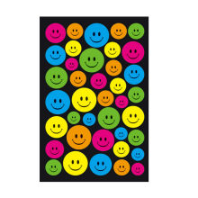 1 Pcs sticker Geometric Patterns cute Emoji Smile face stickers notebook albums message memo pad Student supplies(China)