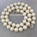 AAA+ 45cm Good Quality 10mm Round White Natural Cultured Freshwater Pearl Jewelry Necklace With A Very Nice Crystal Clasp