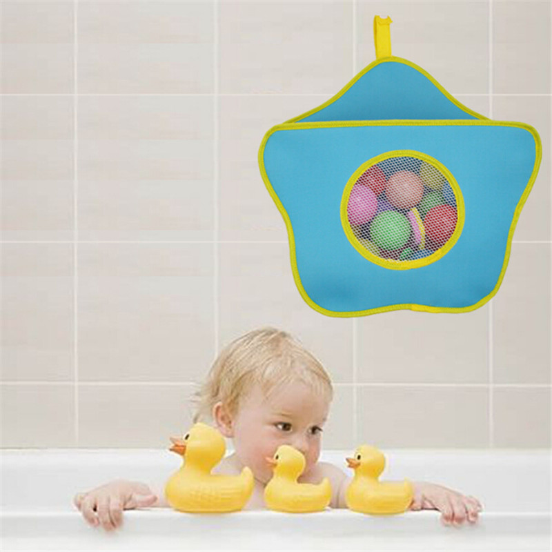 Bathroom Sunction Hanging Storage Bag SKids Bath Toy Organizer Bag For Toys Waterproof Bathroom Organizer Case Home Decoration