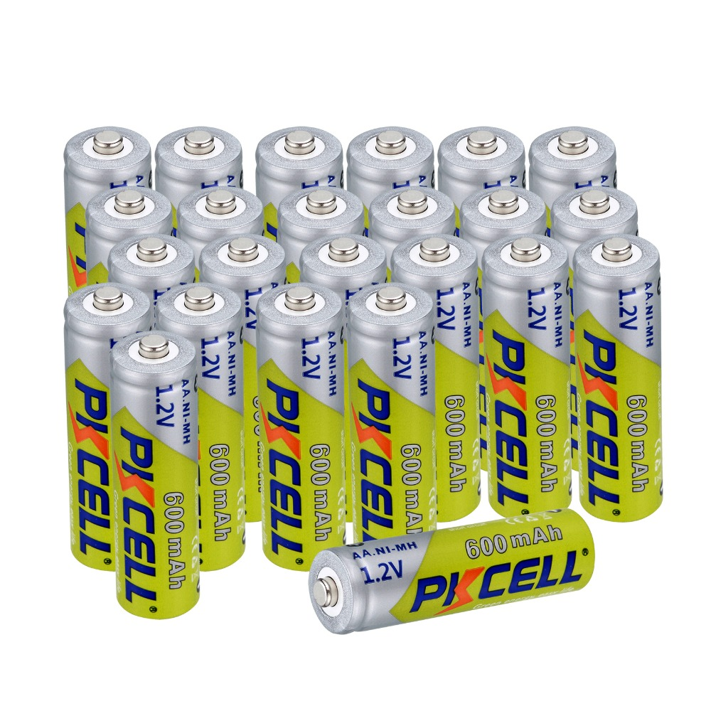 20pcs/lot AA Rechargeable <font><b>Battery</b></font> AA NiMH 1.2V <font><b>600mAh</b></font> Ni-MH 2A Pre-charged Bateria Rechargeable <font><b>Batteries</b></font> for Camera