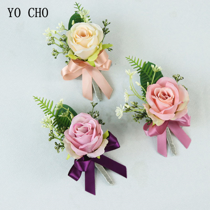 Sporting Yo Cho Delicate Tulip Wrist Flower Bride Corsage Hand Deorative Wristband Bracelet Bridesmaid Wedding Dancing Party Decor Gift Online Shop Clothing, Shoes & Accessories
