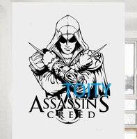 Assassins Creed Sticker Wall Room Decor Art Video Game Poster Teen Room Vinyl Decal Mural H77cm