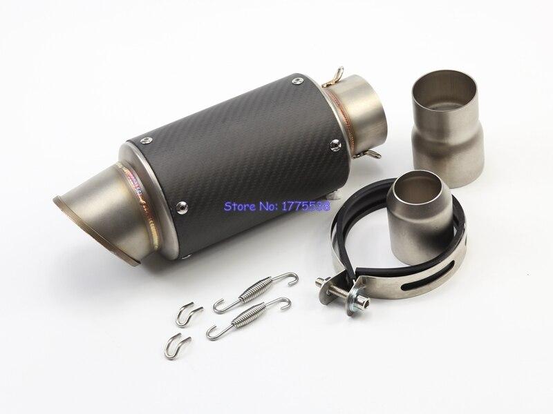 ID:61mm(2.4) L:270mm Universal Motorcycle Motorbike Exhaust Pipe Silencer Muffler Damper Escape Carbon Fiber Exhasut Muffler