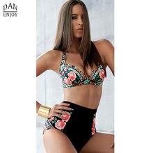 DANENJOY Sexy Printing Bikini Set Women Swimsuit Push Up Brazilian Swimwear 2019 High Waist Biquines Feminino