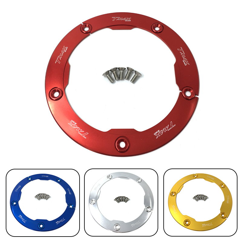 Free Shipping Scooter CNC Anodized Transmission Belt Pulley Cover For Yamaha T-MAX T MAX TMAX 530 2012 2013 2014 2015 TMAX530 free shipping light weight crank pulley new for nissan skyline gtr bnr32 rb26 dett rb20 rb25 underdrive crank pulley yc100829