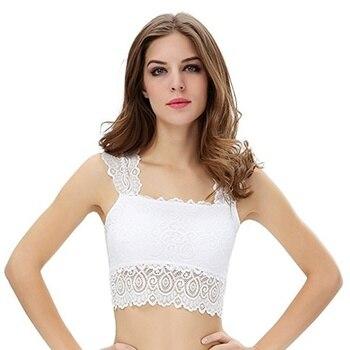 Women Solid Push Up Bra Top Sexy Lingerie Women Underwear Top Corset Lace Crochet Bralette Fitness Bra Top