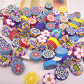 50pc/lots 16mm Polymer Clay Fimo Flat Round Coin Beads Mixed With Hole For Necklace Jewelry Making Kids Crafts Items Accessories