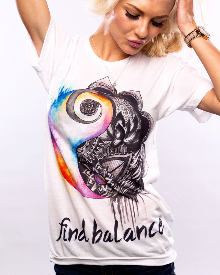 Find balance letters flower print summer short sleeve t shirt vintage life is strange streetwear korean style rock women clothes