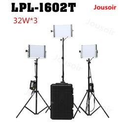 Falconeyes Panel LED Light 32W Daylight Dimmable 120pcs LED Studio Video Lighting LPL-1602T*3 with waterproof box Kit CD50 T06