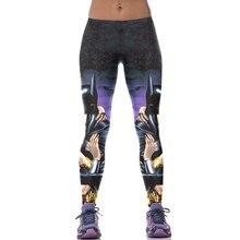 New 522 Sexy Girl leggins galaxy Batman Wonder Woman Comics Printed Polyester Elastic Fitness Workout Women Leggings Pants