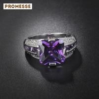 Fashion Wholesale European Elegant Purple Crystal Rings Engagement Wedding Ring Brand New For Women J0608