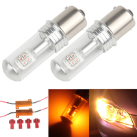 2x 40W 572LM 1156 LED Reverse Bulb P21W BA15S Stop Lamp 1003 1141 Car Tail Bulb