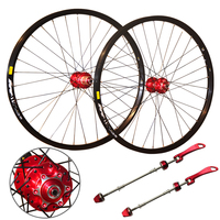 cool price last stock 319 2/4 sealed bearing CNC aluminum alloy 26 inch mtb bicycle wheelset