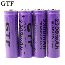 GTF 4pcs 3.7V 14500 2500mAh Li-ion Rechargeable Battery For Flashlight Torch Torch Flashlight Battery gtf 4pcs 3 7v 14500 2300mah li ion rechargeable battery for led flashlight torch