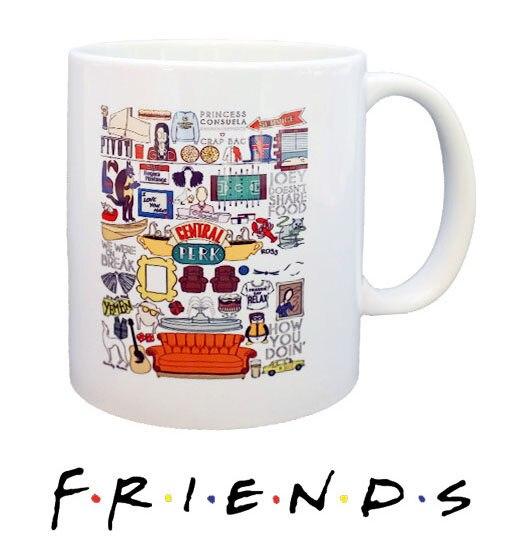 Online Shop New Friends TV Show Series White Ceramic Coffee Tea Cup ...