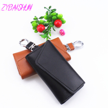 Car keys Handbag Wallet housekeeper multifunctional key bag mini card bags for Volkswagen vw POLO Tiguan Passat CC golf GTI R20 image