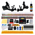 Principiante Completo Kit de Tatuaje de arranque Kit de Tatuaje Profesional Rotary Machine Guns 54 Tintas de Alimentación Aguja Grips Set