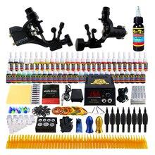 Starter Beginner Complete Tattoo Kit Professional Tattoo Machine Kit Rotary Machine Guns 54 Inks Power Supply Needle Grips Set