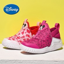 Disney Kids Shoes Little Hippocampus Cute Mickey Cartoon Girl Sneakers Comfortable Breathable Lightweight Sport Shoes#1016