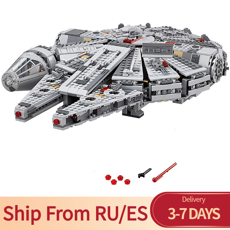 Star Wars 1381pcs Millennium Movie The Force Awakens Han Solo Bricks Building Blocks Toys For Children
