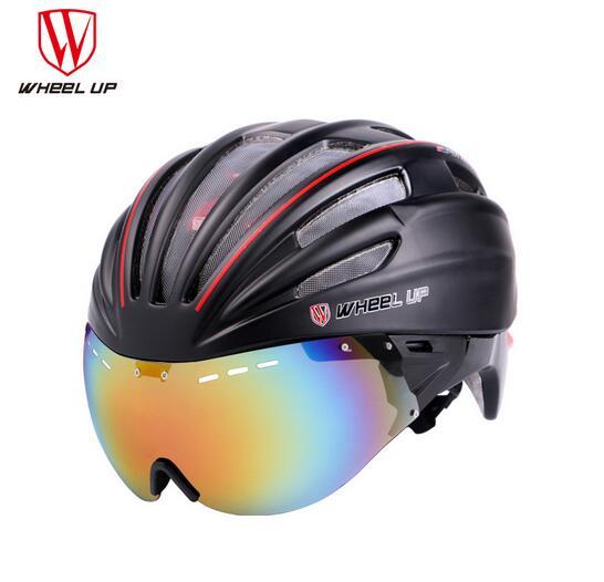 WHEEL UP Integrally Aerodynamic EPS Lens Cycling Helmet Ultra-Light Mountain Bike Helmet MTB Bicycle Helmet Byclcle Accessories universal bike bicycle motorcycle helmet mount accessories