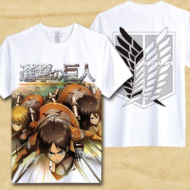 Attack On Titan White T-shirt (21 Designs)