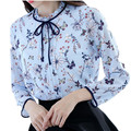 Spring Shirt Women 2017 Woman Chiffon Blouse Long Sleeve New Arrivals Casual Fashion Print Floral Tops Women's Clothing