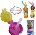 Новый стиль вещи ребенка удобный бутилированной соломинкой крышкой практической нажмите дети напиток соломы для взрослых детей