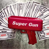 Cash Cannon Money Gun Super Money Gun Fashion Toy Make It Rain Money Gun Red Christmas