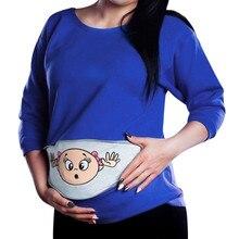 Новинка; Лидер продаж; женская одежда для беременных; Детский свитер; Забавный пуловер на молнии для беременных; топы; Повседневная Блузка размера плюс;@ 35